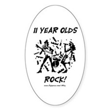 11 Year Olds Rock Oval Decal