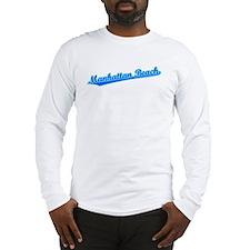 Retro Manhattan Be.. (Blue) Long Sleeve T-Shirt