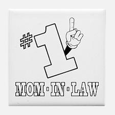 #1 - MOM-IN-LAW Tile Coaster