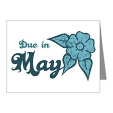 Due In May Blue Blossom Note Cards (Pk of 20)