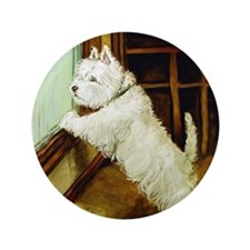"Waiting Westie 3.5"" Button (100 pack)"