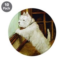 "Waiting Westie 3.5"" Button (10 pack)"