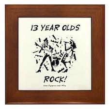 13 Year Olds Rock Framed Tile