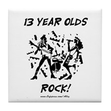 13 Year Olds Rock Tile Coaster