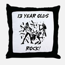 13 Year Olds Rock Throw Pillow