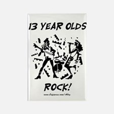 13 Year Olds Rock Rectangle Magnet
