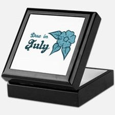 Due In July Blue Blossom Keepsake Box