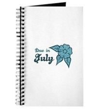 Due In July Blue Blossom Journal