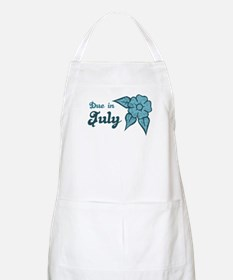 Due In July Blue Blossom BBQ Apron