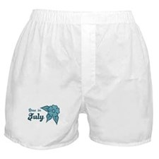 Due In July Blue Blossom Boxer Shorts