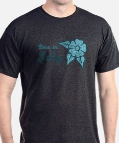 Due In July Blue Blossom T-Shirt