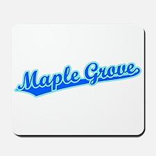 Retro Maple Grove (Blue) Mousepad