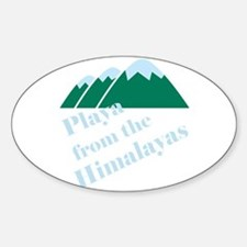 Playa from Himalaya Oval Decal