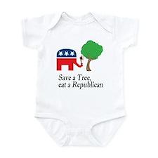 Save a tree, eat a republican Infant Bodysuit