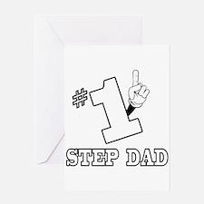 #1 - STEP DAD Greeting Card