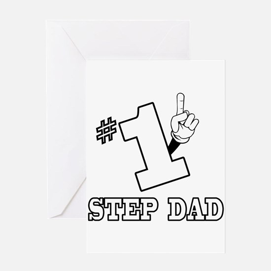 #1 - STEP DAD Greeting Card