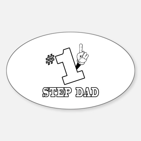#1 - STEP DAD Oval Decal