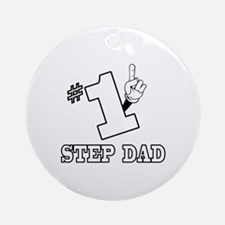 #1 - STEP DAD Ornament (Round)