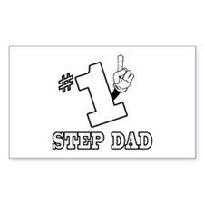 #1 - STEP DAD Rectangle Decal