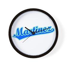 Retro Martinez (Blue) Wall Clock