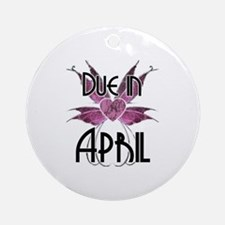Due In April Fairy Wings Ornament (Round)