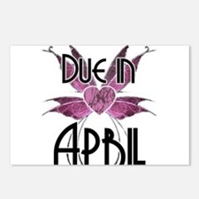 Due In April Fairy Wings Postcards (Package of 8)