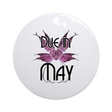 Due In May Fairy Wings Ornament (Round)