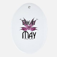 Due In May Fairy Wings Oval Ornament