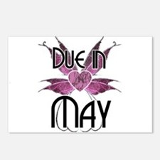 Due In May Fairy Wings Postcards (Package of 8)