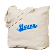 Retro Mason (Blue) Tote Bag