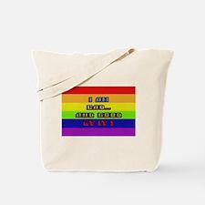 I AM BAD..& GOOD AT IT/RAINBO Tote Bag