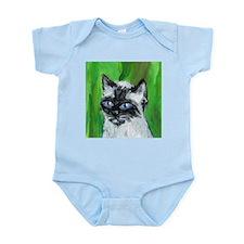 Whimsical Siamese portrait Infant Creeper