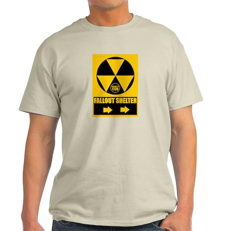 Fallout Shelter Sign Light T-Shirt