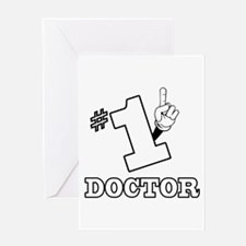 #1 - DOCTOR Greeting Card