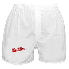 Retro Rocklin (Red) Boxer Shorts