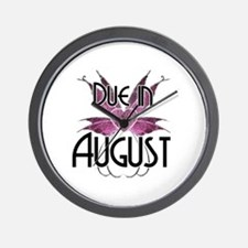 Due In August Fairy Wings Wall Clock