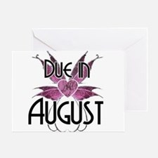 Due In August Fairy Wings Greeting Card