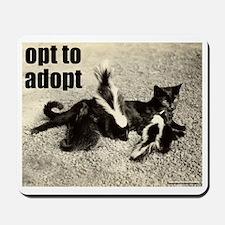 Opt To Adopt Cat Mousepad