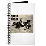 Opt To Adopt Cat Journal