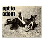 Opt To Adopt Cat Small Poster