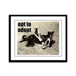 Opt To Adopt Cat Framed Panel Print