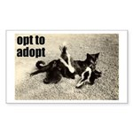 Opt To Adopt Cat Rectangle Sticker
