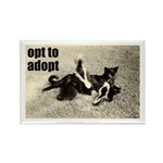 Opt To Adopt Cat Rectangle Magnet