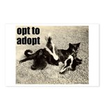 Opt To Adopt Cat Postcards (Package of 8)