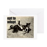 Opt To Adopt Cat Greeting Cards (Pk of 20)