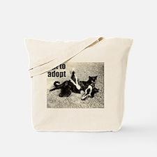 Opt To Adopt Cat Tote Bag