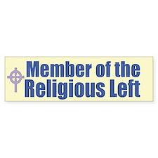 Religious Left Celtic Cross Bumper Bumper Sticker
