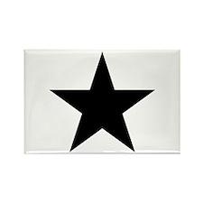 Black Star Rectangle Magnet (100 pack)