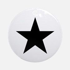 Black Star Ornament (Round)