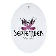 Due September Fairy Wings Oval Ornament